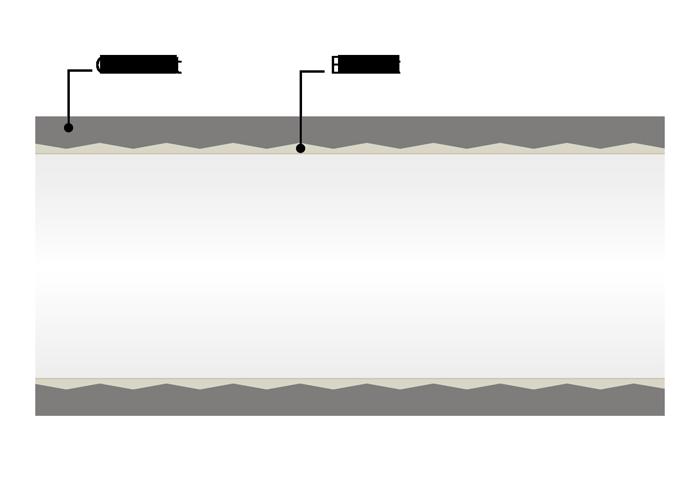 Schéma enduit des conduits de ventilation de restaurant